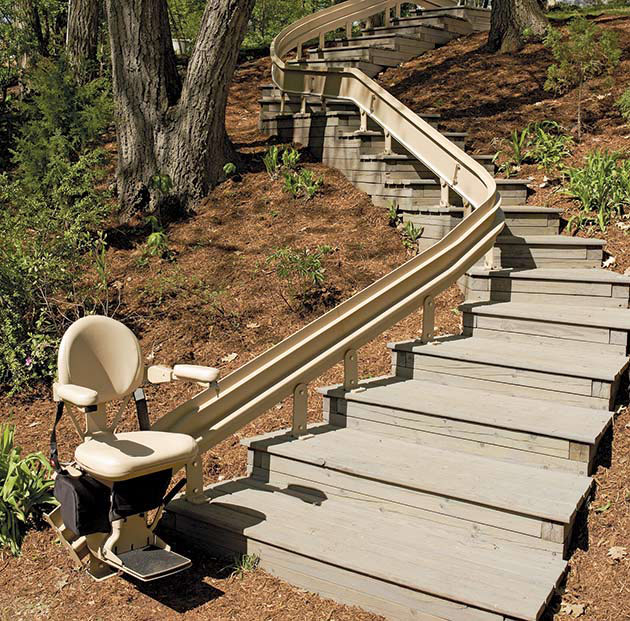 Elite Outdoor Curved - Central Massachusetts Stairlifts