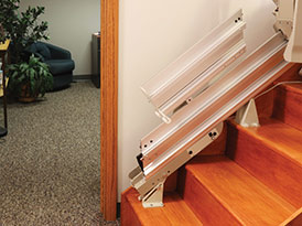 Power or Manual Folding Rails - Central Massachusetts Stairlifts