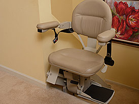Custom Curved Stairlift Power Swivel Seat - Central Massachusetts Stairlifts