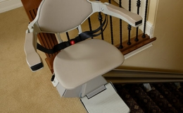 2 SRE 300 Lan Indoor Straight Stairlift  1 - Central Massachusetts Stairlifts