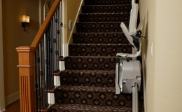 3 SRE 300 Lan Indoor Straight Stairlift - Central Massachusetts Stairlifts