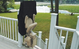 Brunos Extreme Weather Outdoor Straight Stairlift 3 - Central Massachusetts Stairlifts