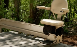 Elite outdoor curved stairlift 5 - Central Massachusetts Stairlifts