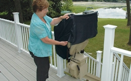 Brunos Extreme Weather Outdoor Straight Stairlift 2 - Central Massachusetts Stairlifts