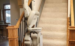Brunos Top Of The Line Indoor Straight Stairlift 2 - Central Massachusetts Stairlifts