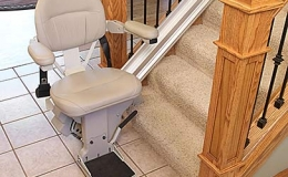 Brunos Top Of The Line Indoor Straight Stairlift 1 - Central Massachusetts Stairlifts