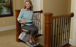 Elan Indoor Straight Stairlift - Central Massachusetts Stairlifts
