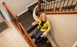 Elite Indoor Curved Stairlift - Central Massachusetts Stairlifts