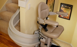 Elite Indoor Curved - Central Massachusetts Stairlifts