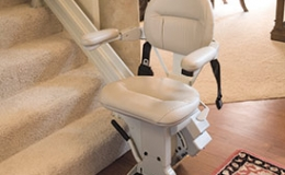 Custom Curved Stairlift Larger Seat Pad - Central Massachusetts Stairlifts