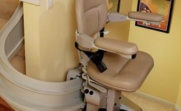 Custom Curved Stairlift 3 - Central Massachusetts Stairlifts