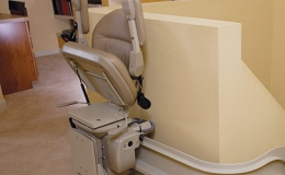Custom Curved Stairlift 1 - Central Massachusetts Stairlifts
