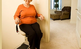 Elite Indoor Staright Power Swivel Seat  - Central Massachusetts Stairlifts