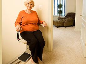 Elite Indoor Staright Power Swivel Seat  - Central Massachusetts Stairlifts